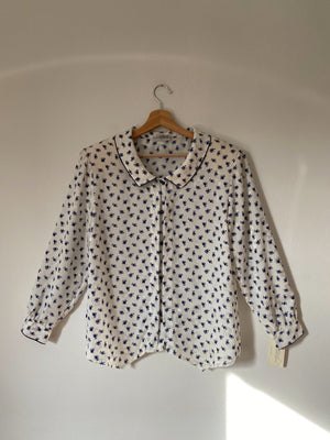 Vintage Italian flowers liquid shirt