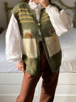 Vintage Italian mohair blend embroidery vest