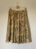 Vintage LesCopains viscose chifffon pleated shell skirt