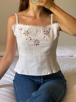 Vintage antique pure cotton hand embroidered top