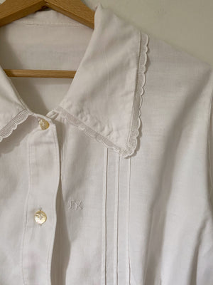 Vintage antique pure cotton maxi collar shirt
