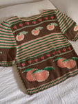 Vintage Italian hand knitted pure cotton embroidered pull