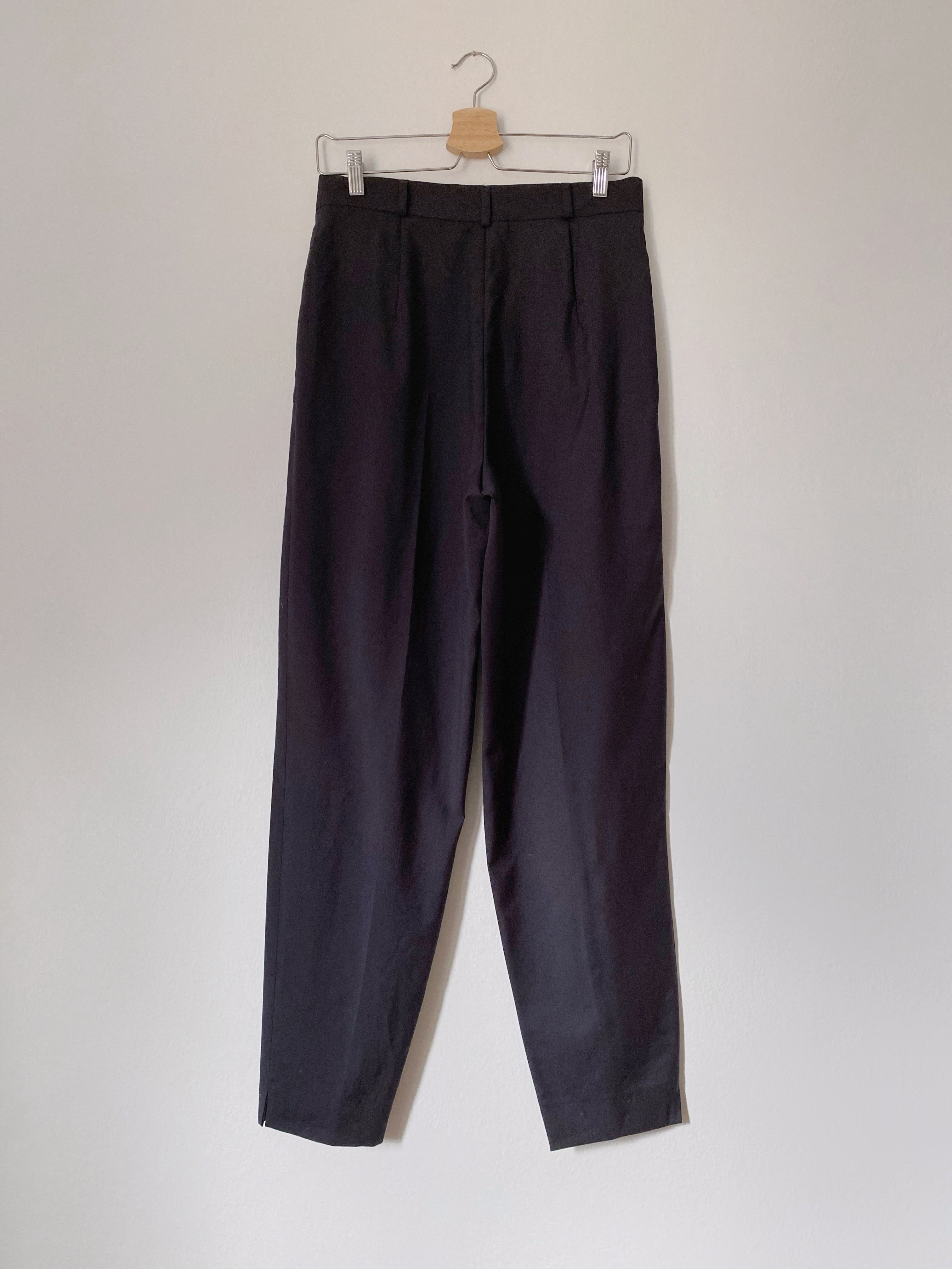 Vintage pure new wool high waist classic blue pants