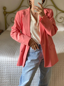 Vintage MaxMara wool and viscose lightweight pink blazer