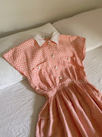 Vintage Valentino pure linen pink dress