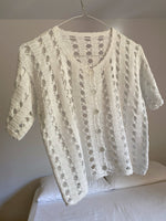 Vintage Italian hand knitted pure cotton mini cardigan