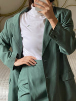 Vintage MaxMara wool and viscose two pieces green set