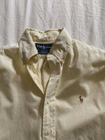 Vintage Ralph Lauren pure cotton pastel yellow man shirt