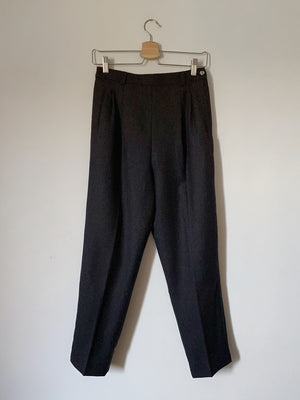 Vintage pure wool high waist classic grey pants