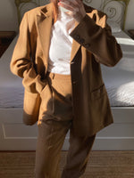 Vintage Pierre Cardin wool and viscose two pieces brown set
