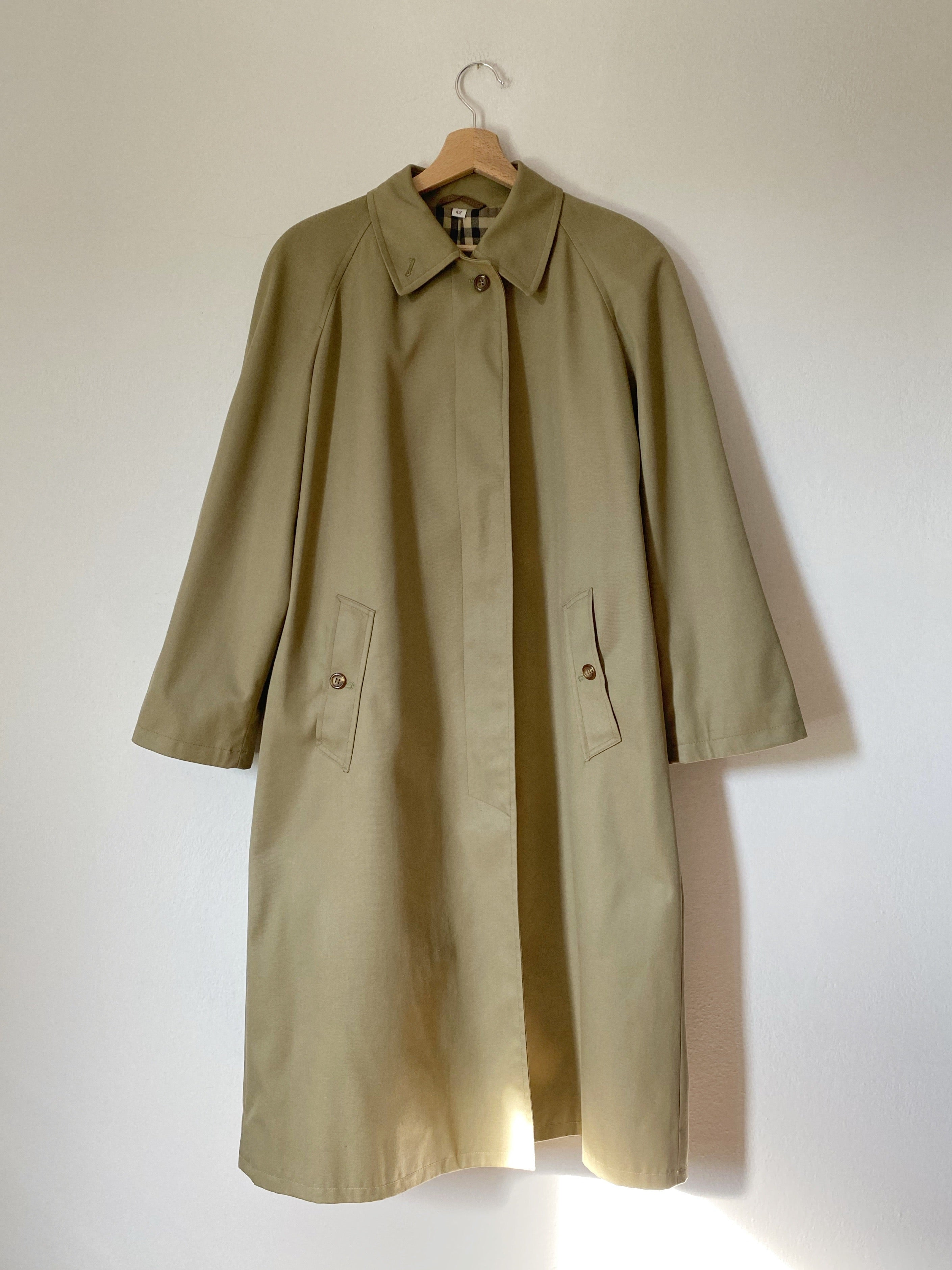 Vintage Made in Italy cotton blend classic trench