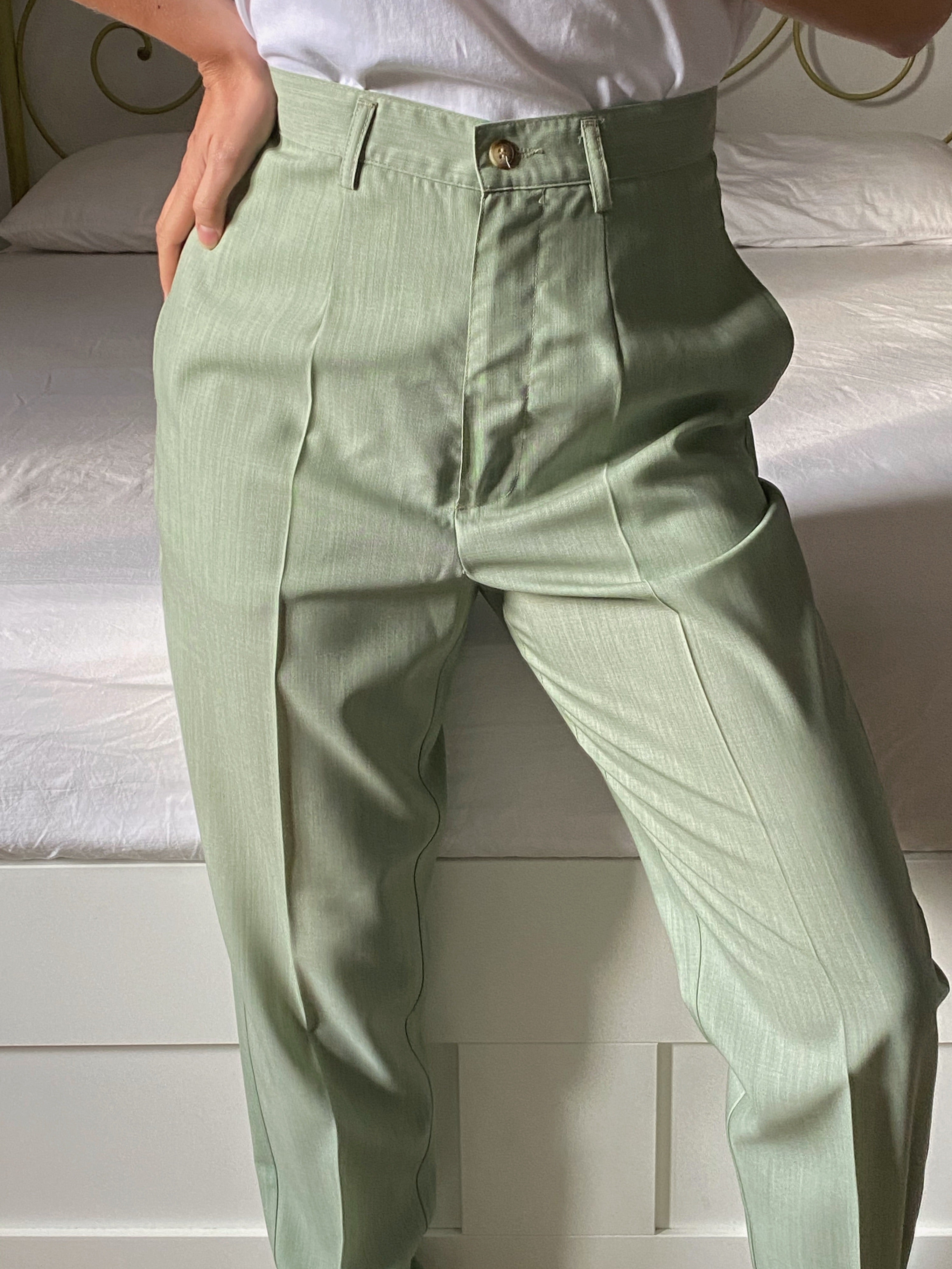 Vintage Benetton pure wool pastel green two pieces set