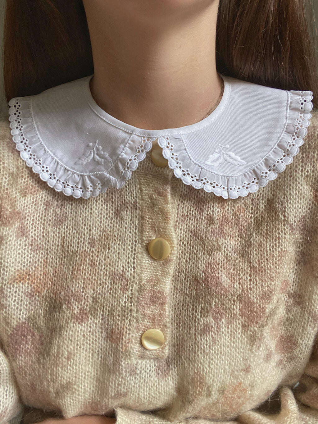 Vintage pure cotton lace collar