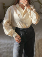 Vintage Cacharel pure silk liquid blouse