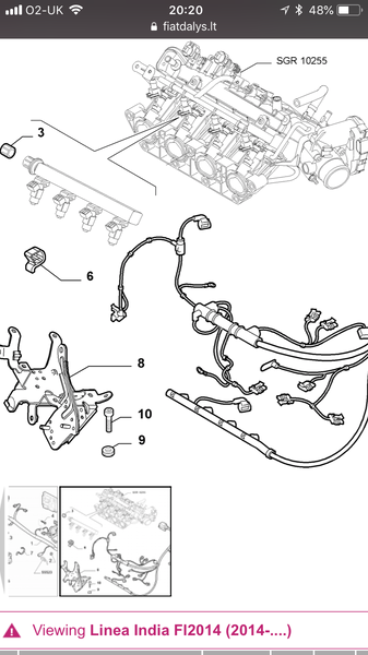 Bracket for fuel injection system - MiTo & Fiat