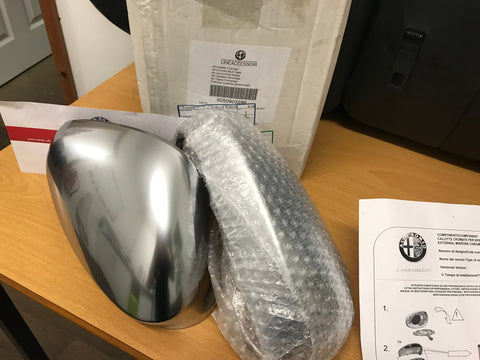 Wing mirror caps - satin chrome - 159 MiTo Giulietta - 50903296
