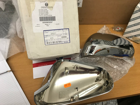 Wing mirror covers pair - chrome style - 159, Mito & Giulietta