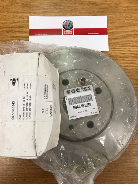 Brake disc and pad kit - front - vented - MiTo 1.4 - 71771029