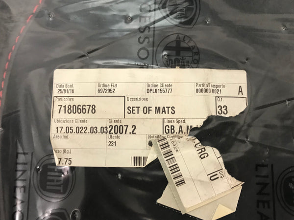Mat set - Giulietta - 2014 on - 71806678