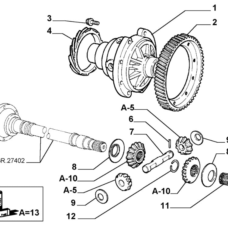 Differential Ring Gear  6  147  U0026 155  No 2 In Diagram