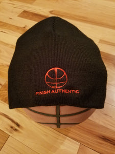 Finish Authentic - FA Big Mark Beanie Black - Designer Basketball Beanie