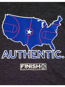 FInish Authentic - Authentic USA Designer Basketball T-Shirt Closeup