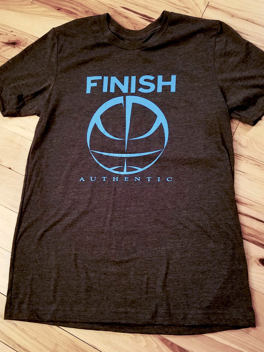 Finish Authentic - FA Big Mark Grey Designer Basketball T-Shirt