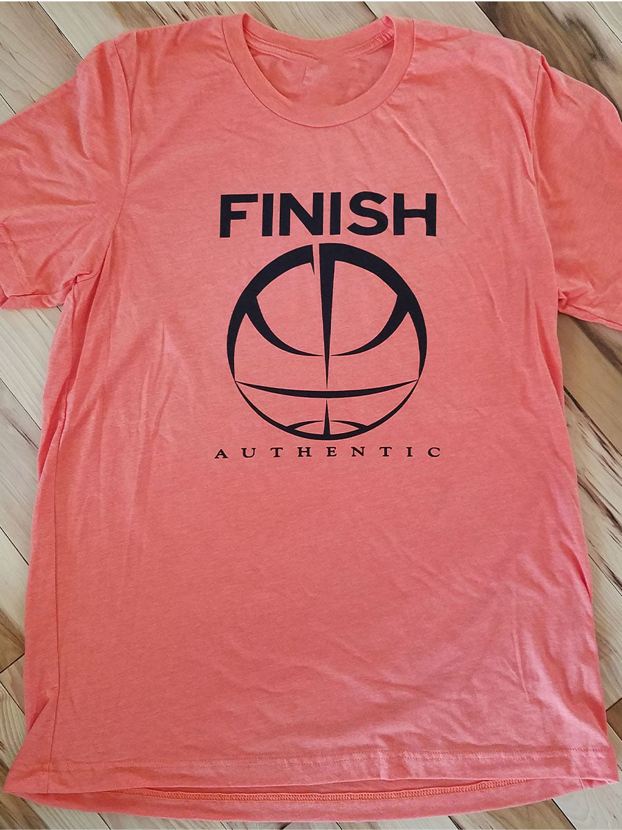 Finish Authentic - FA Big Mark Orange Designer Basketball T-Shirt
