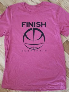Finish Authentic - FA Big Mark Raspberry Designer Basketball T-Shirt