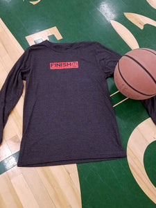 Finish Authentic - FA Box Out LS Gry Designer Basketball T-Shirt