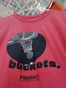 Finish Authentic - FA Buckets 1 Designer Basketball T-Shirt Closeup