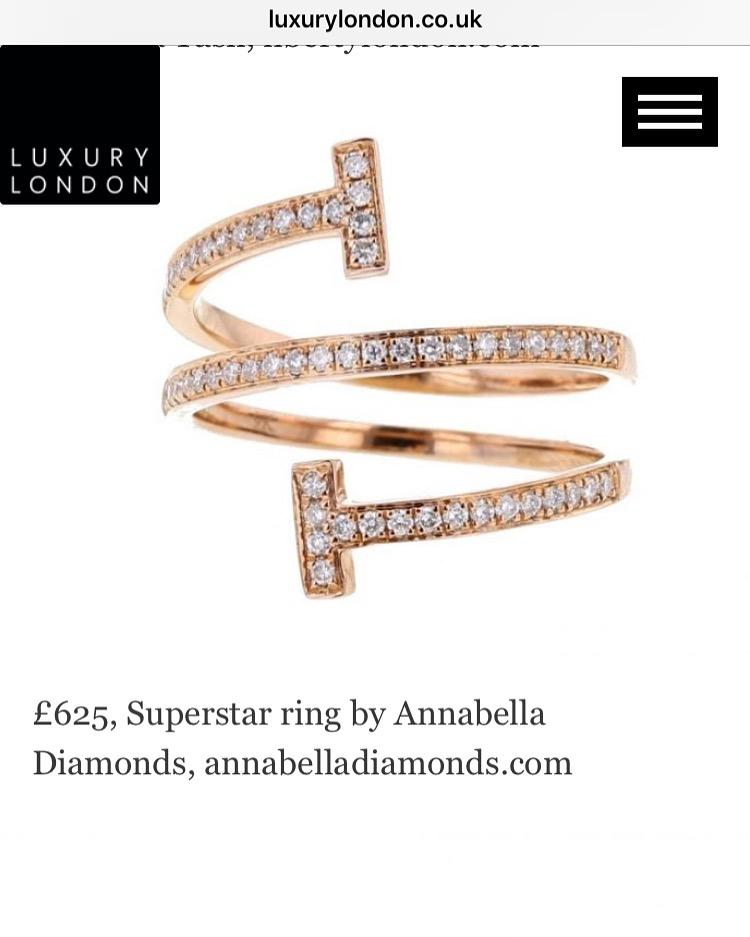 Our SUPERSTAR Diamond Ring featured in Luxury London's Guide to Christmas