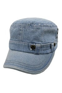 Denim With Metal Studs Cadet Hats