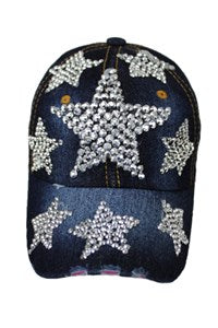 Star Design Bling Cap