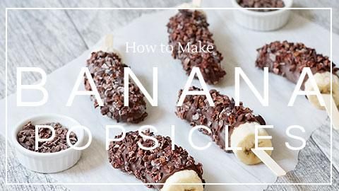 Recipe: Chocolate Cacao Nib Frozen Banana Popsicles