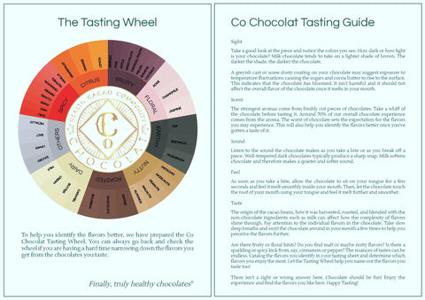 Co Chocolat Tasting Guide