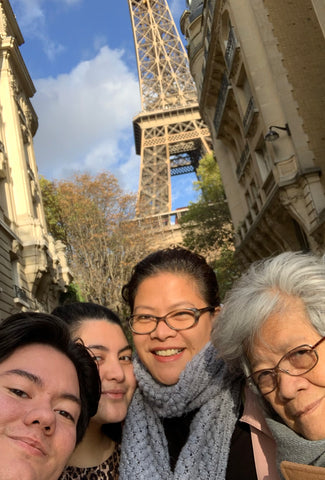Family sight seeing in Paris