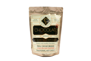 60% Dark Milk Choco with free solo-size wire whisk - 250grams - Hot Chocolatl - Co Chocolat