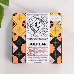 Gold Bar, Gold Finger 60% Dark Chocolate with Turmeric and Black Pepper - Chocolate Bar