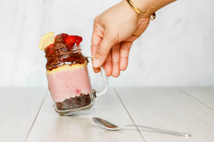 Co Chocolat Joy & Jar: Strawberry Lemon Cheesecake with Probiotics 300g - Gluten-Free, Refined Sugar-Free, Vegan