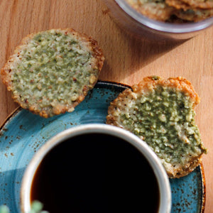 Green Lace Cookies with Japanese Matcha and Moringa - Co Chocolat