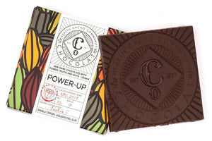 Power-up  65% Dark Chocolate with Dates, Cranberry and Almonds - Chocolate Bar - Co Chocolat