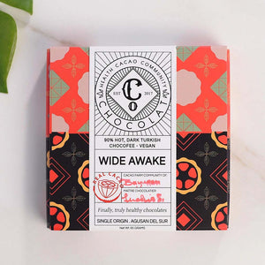 Wide Awake - 90% Hot, Dark Turkish Chocoffee - Chocolate Bar - Co Chocolat