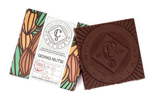 Going nuts! 47% Dark Milk Chocolate with Roasted Whole Hazelnuts and Peanuts - Chocolate Bar