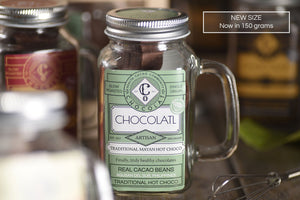Traditional Mayan Choco with free solo-size wire whisk - 150 grams (New Size!) - Hot Chocolatl - Co Chocolat