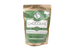 Traditional Mayan Choco with free solo-size wire whisk - 100 grams - Hot Chocolatl
