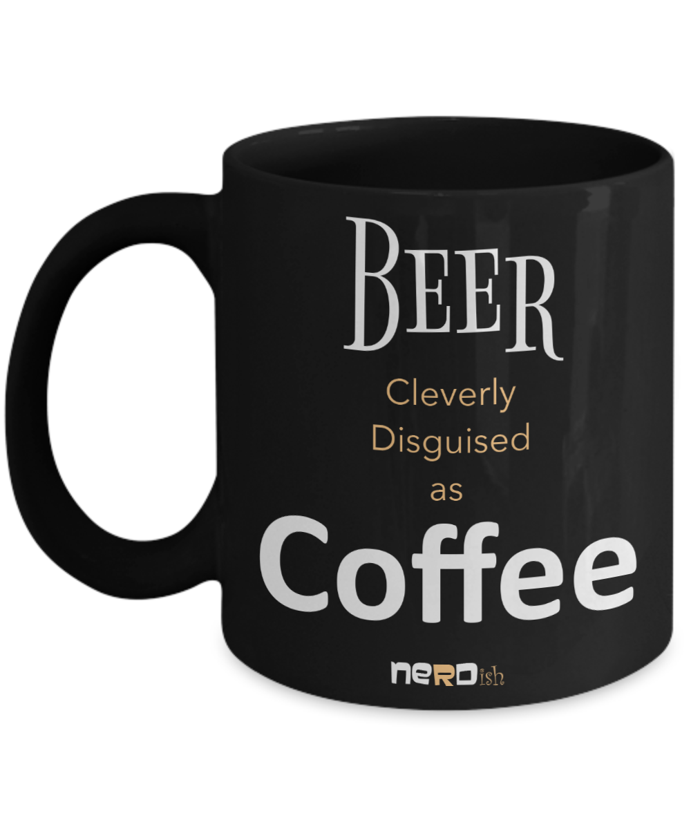 Beer Disguised as Coffee Mug