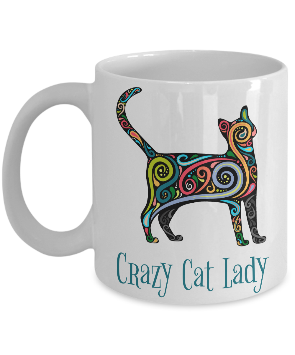 Artsy Crazy Cat Lady Mug