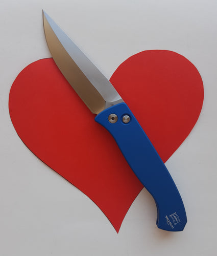 ProTech Brend (med) in blue satin