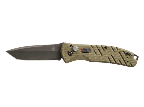 Gerber Auto Propel Fine Edge Black Blade OD Green Handle